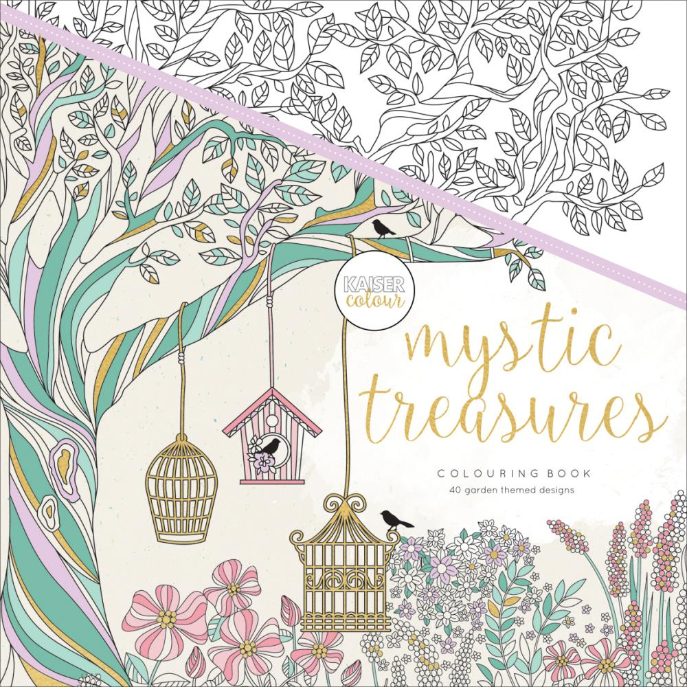 "527717 KaiserColour Perfect Bound Coloring Book 9.75""X9.75"" Mystic Treasures"