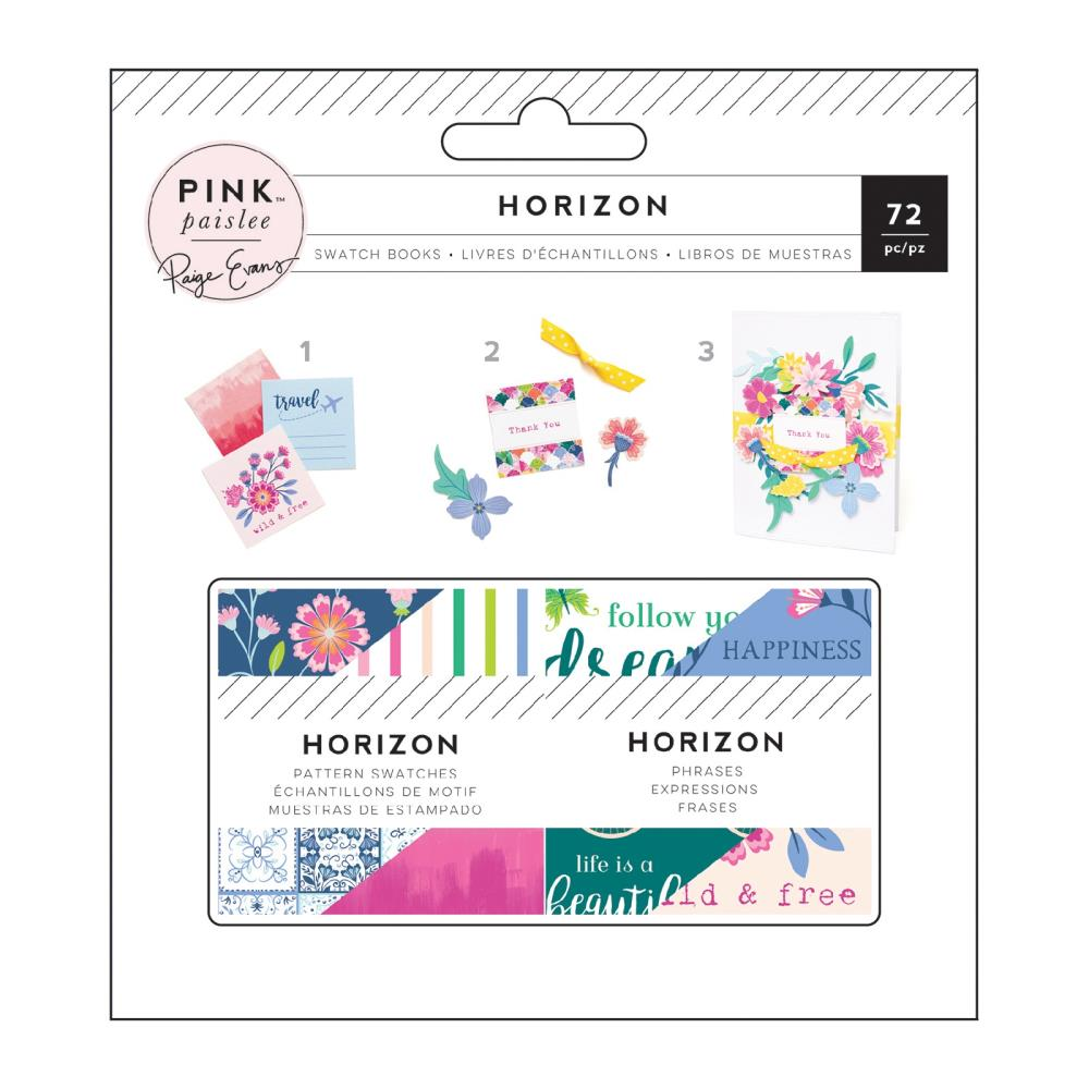 "571111 Paige Evans Horizon Mini Swatch Books 2""X2"" 2/Pkg Pattern & Phrase, 36 Sheets Each"