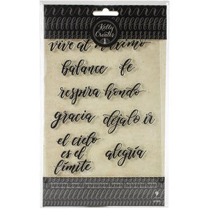 571262 Kelly Creates Acrylic Traceable Stamps Quotes #1 (Spanish)