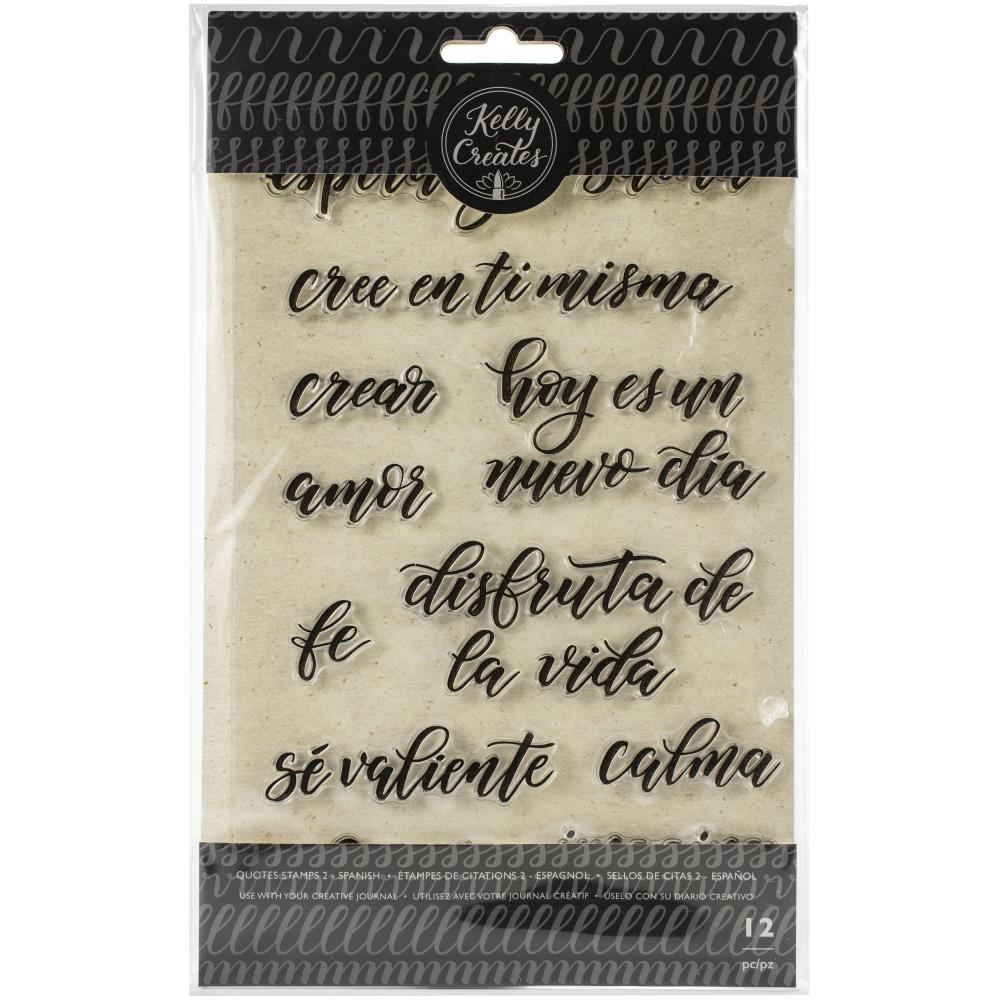 571263 Kelly Creates Acrylic Traceable Stamps Quotes #2 (Spanish)