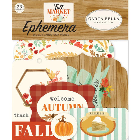 596444 Carta Bella Cardstock Ephemera 33/Pkg Icons, Fall Market