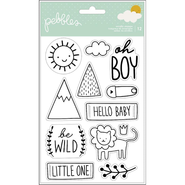 600978 Pebbles Peek-A-Boo You Clear Stamps Boy