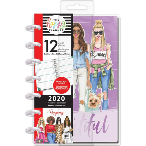 Happy Planner X Rongrong 12-Month Dated Mini Planner Life Is Beautiful, Jan 2020 - Dec 2020