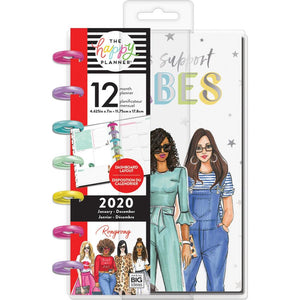 Happy Planner X Rongrong 12-Month Dated Mini Planner Babes Support Babes, Jan 2020 - Dec 2020
