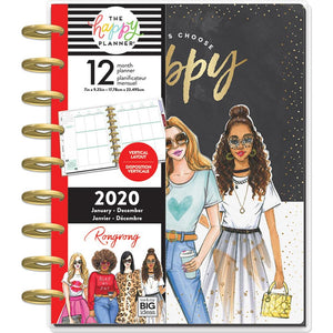 Happy Planner X Rongrong 12-Month Dated Medium Planner Choose Happy, Jan 2020 - Dec 2020