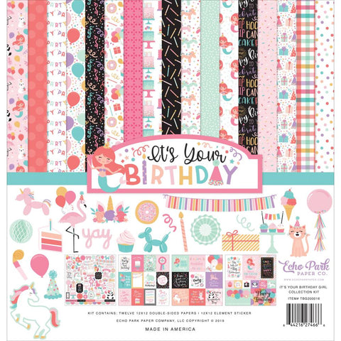 "Echo Park Collection Kit 12""X12""-It's Your Birthday Girl"