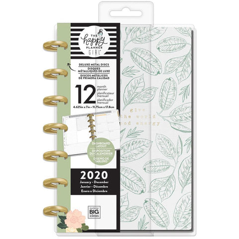 "Happy Planner 12-Month Dated Deluxe Mini Planner 7""X4.625"" Homebody, Jan - Dec 2020"
