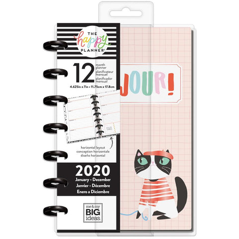 "Happy Planner 12-Month Dated Mini Planner 7""X4.625"" Ooh La La, Jan - Dec 2020"