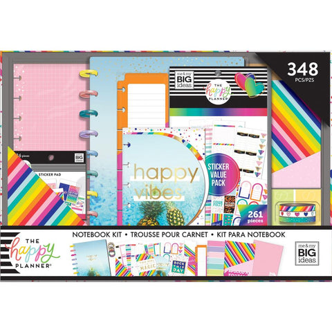 Happy Planner Notebook Box Kit Accessories Brights