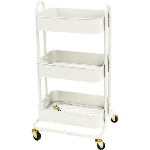 We R A La Cart Storage Cart With Handles Off White