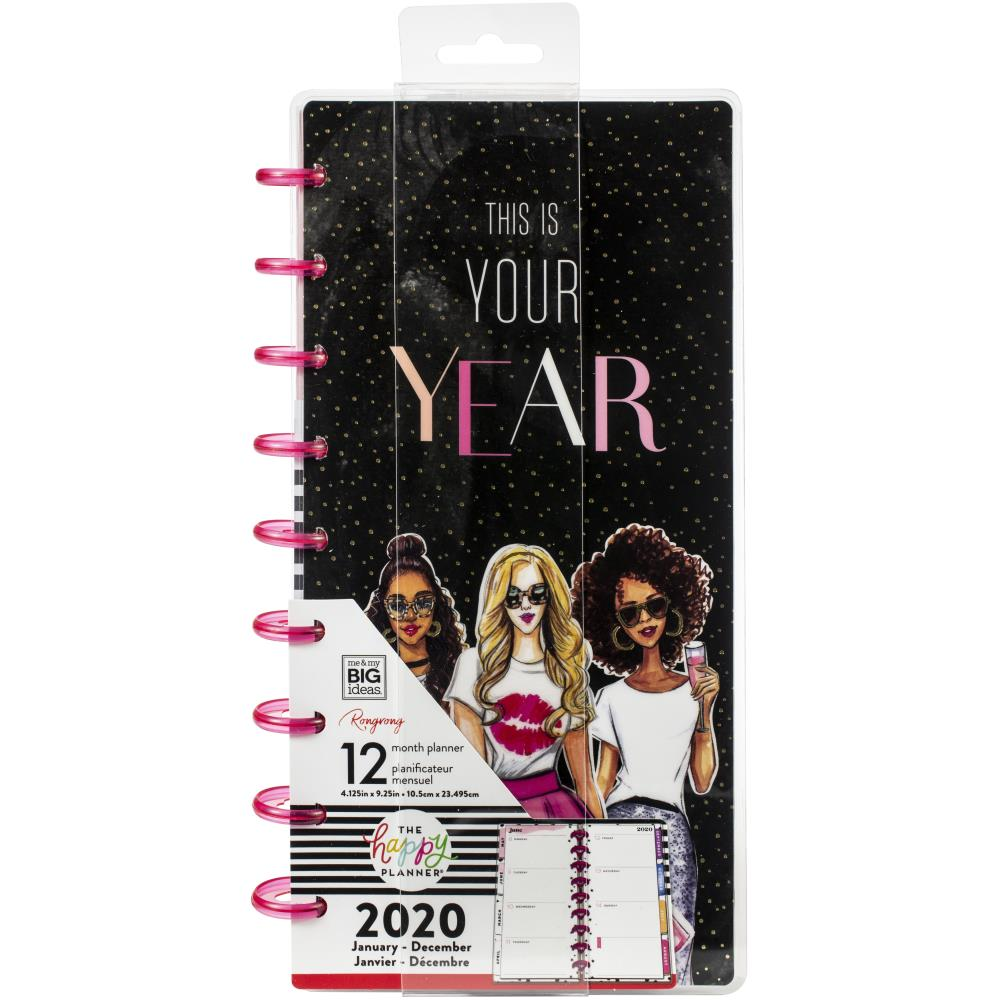 Happy Planner X Rongrong 12-Month Dated Skinny Planner This Is Your Year, Jan 2020 - Dec 2020
