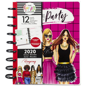 Happy Planner X Rongrong 12-Month Dated Medium Planner Life Of The Party, Jan 2020 - Dec 2020