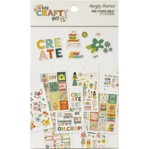 SIMPLE STORIES12 SHEETS -HEY CRAFTY GL STCKRS
