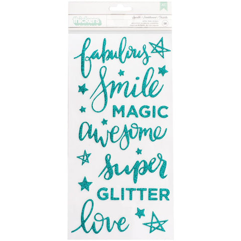 "092257 Shimelle Glitter Girl Thickers Stickers 5.5""X11"" 58/Pkg Sparkle"