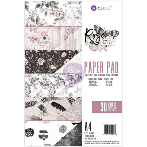 200827 Prima Marketing Double-Sided Paper Pad A4 30/Pkg Rose Quartz, 6 Designs/5 Each