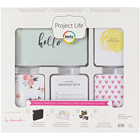 249981 Project Life Core Kit Project 52 Fresh Edition, 616/Pkg