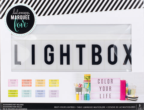 "257766 Heidi Swapp Lightbox Original 10""X13""X2"" Multi-Colored"