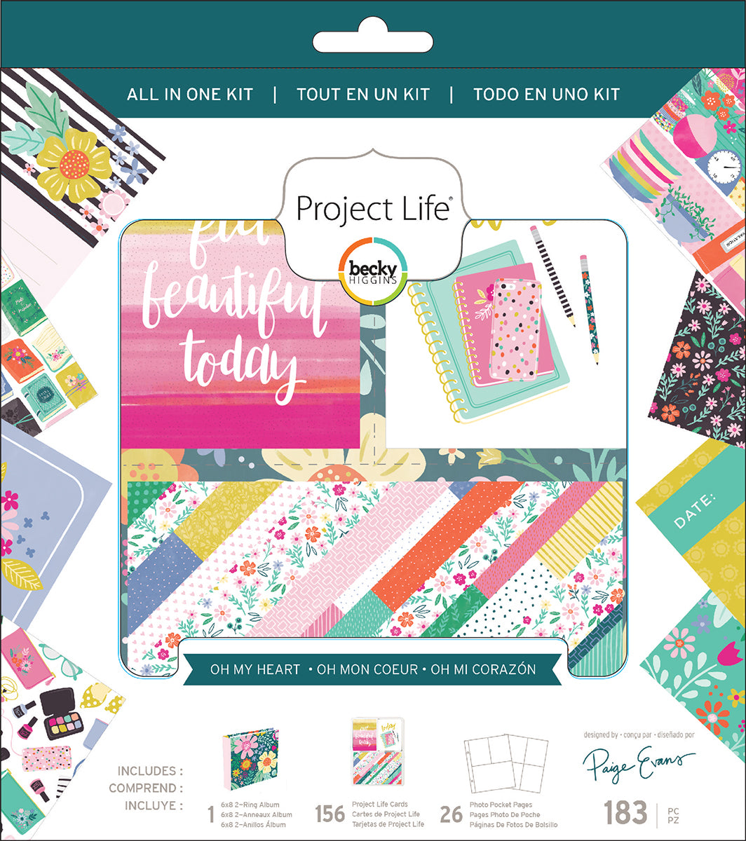 275047 Project Life All-In-One Album Kit Paige Evans Oh My Heart