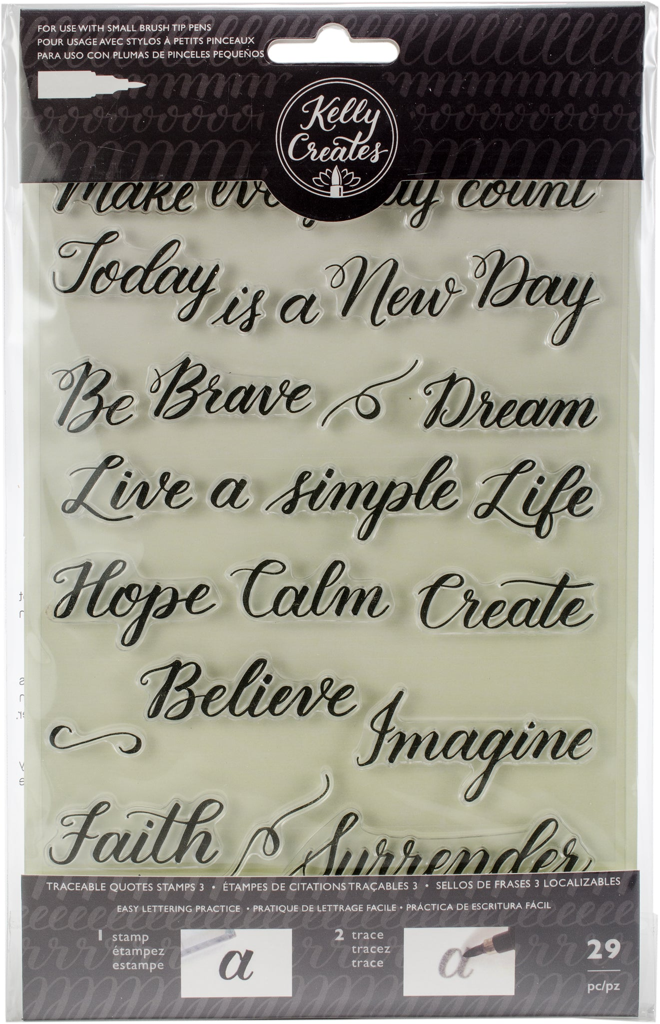 304304 Kelly Creates Acrylic Traceable Stamps Quotes 3