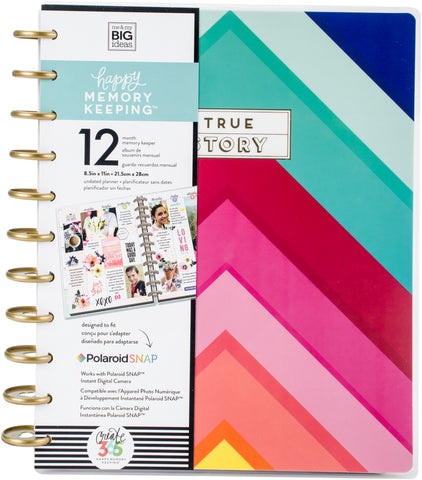 307073 Happy Memory Keeping Undated 12-Month Big Planner -True Story