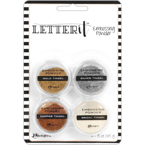 315812 Ranger Letter It Embossing Powder Set Tinsels