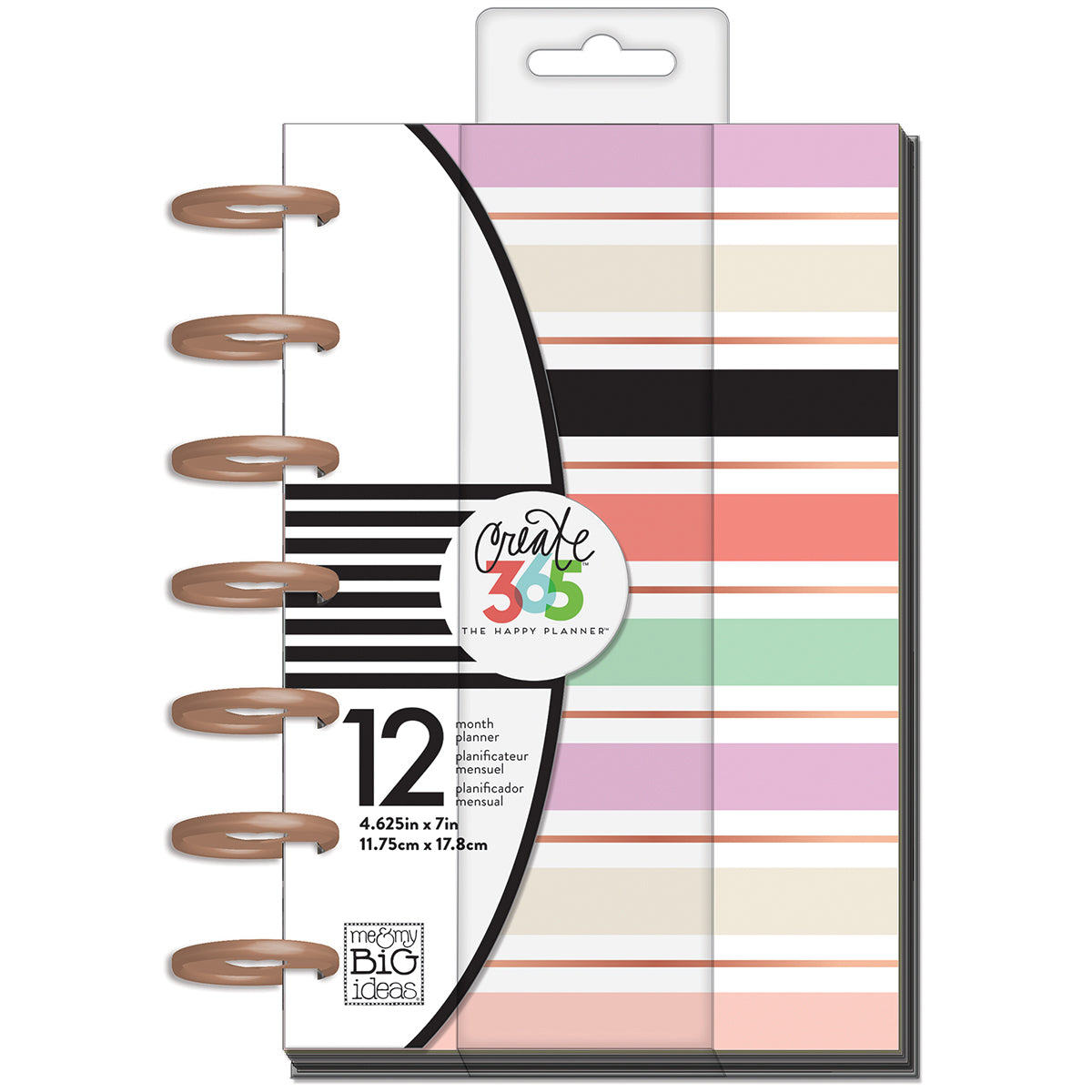 "337331 Happy Planner 12-Month Undated Mini Planner 5.125""X7.5"" Lovely Pastels"