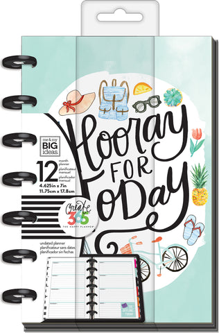 "337427 Happy Planner 12-Month Undated Mini Planner 5.125""X7.5"" Everday Essential"