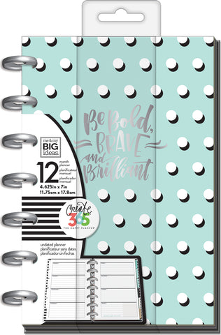 "337431 Happy Planner 12-Month Undated Mini Planner 5.125""X7.5"" A Well Krafted Life"