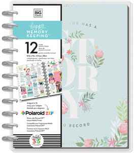 378856 Happy Memory Keeping Undated 12-Month Big Planner My Story W/Metal Discs