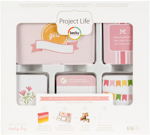 459031 Project Life Core Kit Baby Girl, 616/Pkg