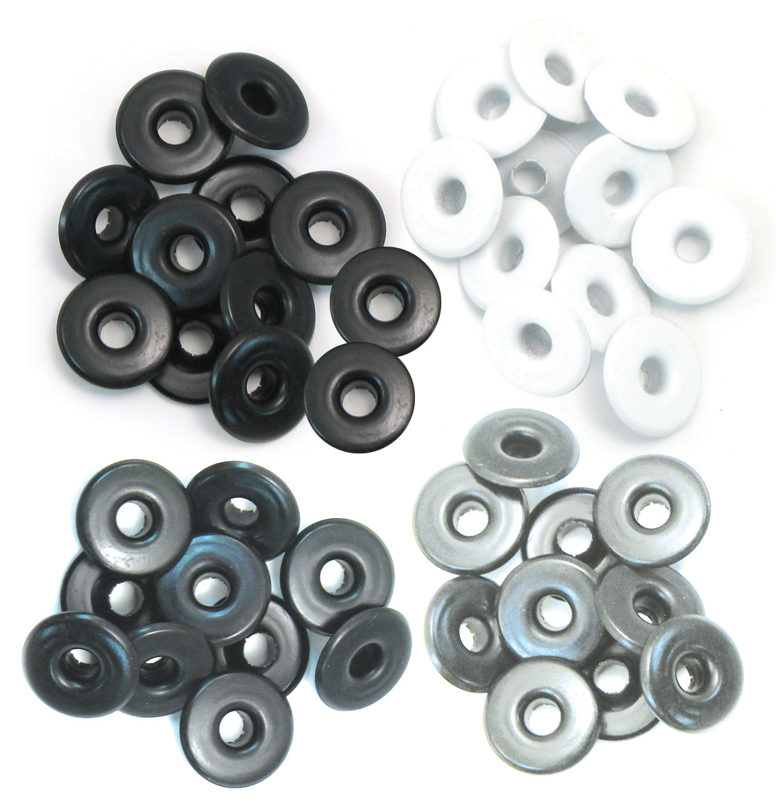 459291 We R Eyelets Wide 40/Pkg-Gray