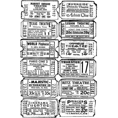 "461157 Tim Holtz Cling Stamp 2.5""X3.5"" Ticket"