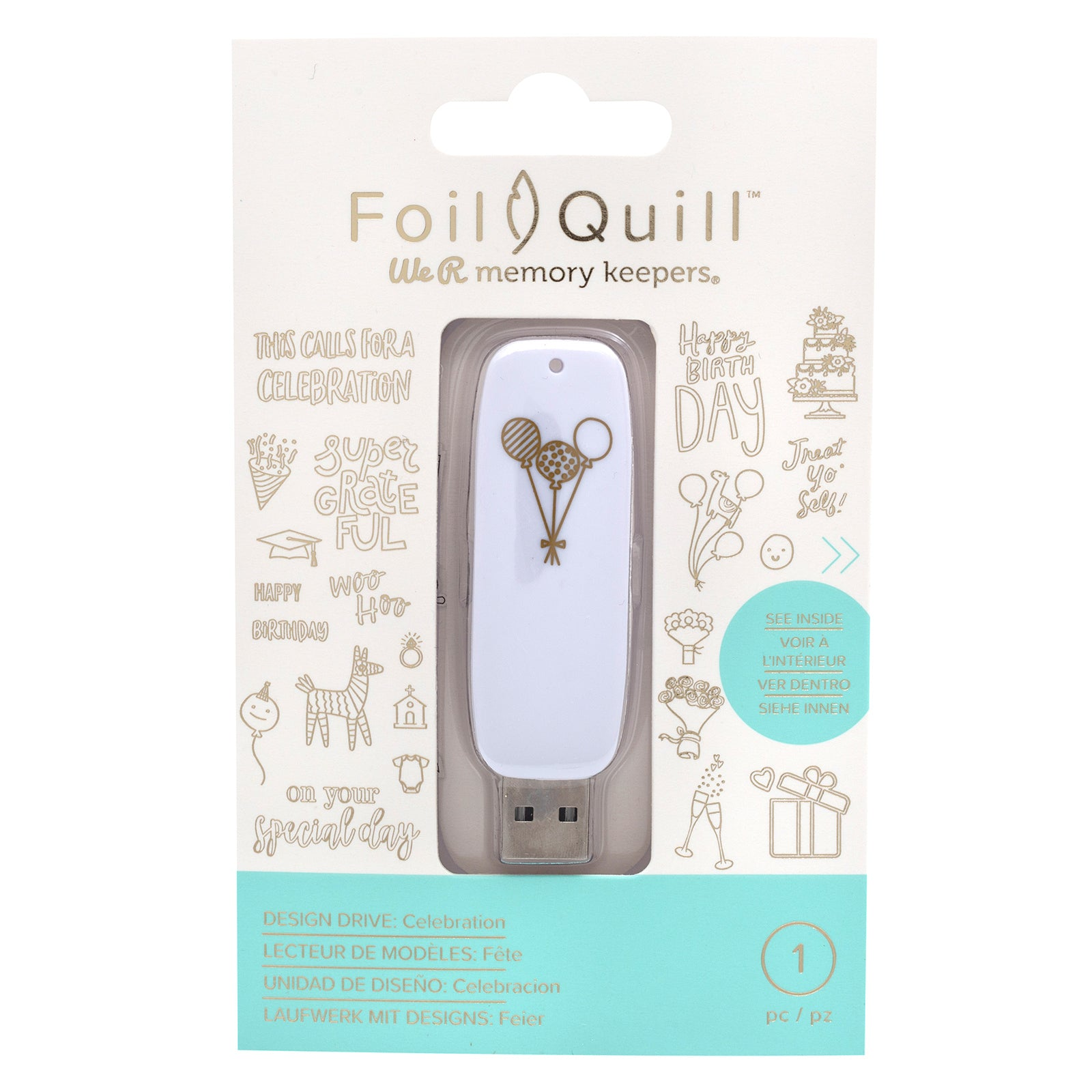 We R Memory Keepers Foil Quill USB Artwork Drive Celebration