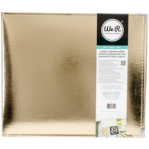 "517031 We R Classic Leather D-Ring Album 12""X12""-Gold"