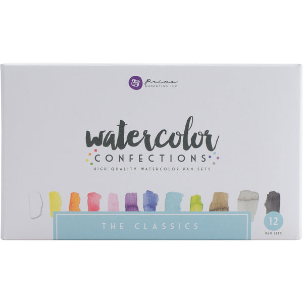 539441 Prima Watercolor Confections Watercolor Pans 12/Pkg-The Classics