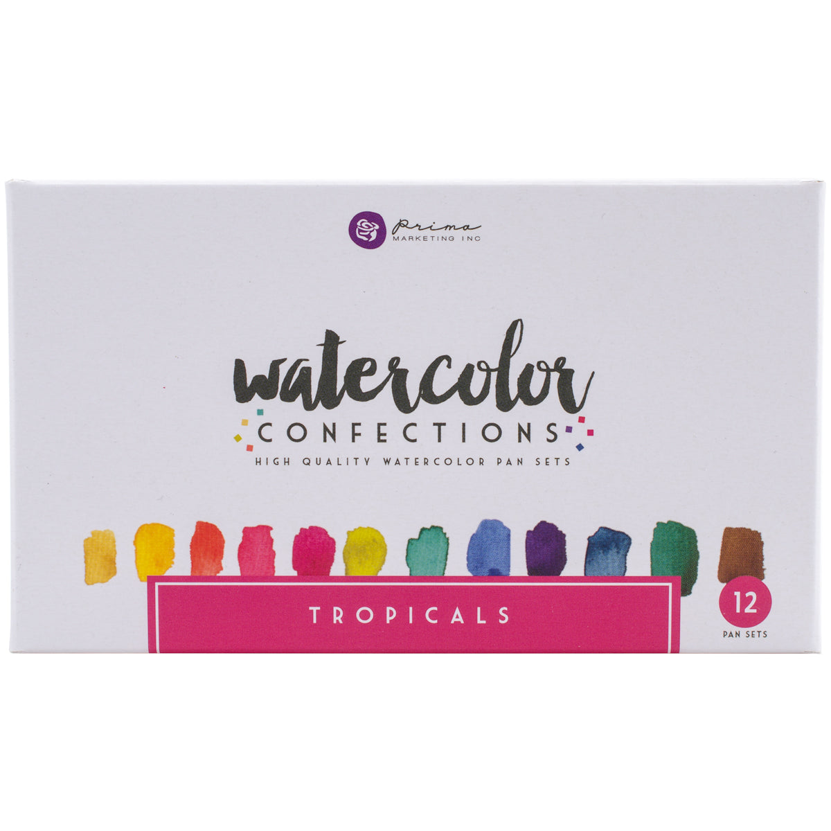 539442 Prima Watercolor Confections Watercolor Pans 12/Pkg Tropicals