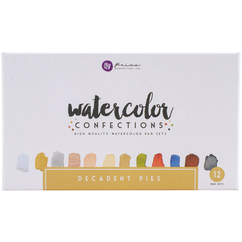 539443 Prima Watercolor Confections Watercolor Pans 12/Pkg Decadent Pies