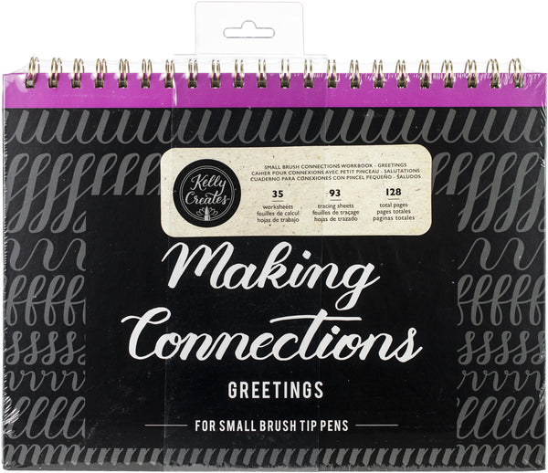 "548788 Kelly Creates Small Brush Workbook 11.6""X10"" 128/Pkg-Connections/Greetings"