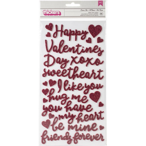"553428 Loves Me Thickers Stickers 5.5""X11"""