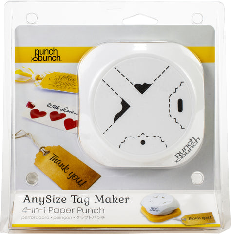 555458 Punch Bunch AnySize Elegant Tag Maker 4-In-1 Corner And Hole Punch