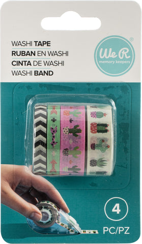 556407 We R Washi Tape Rolls 4/Pkg-Succulent