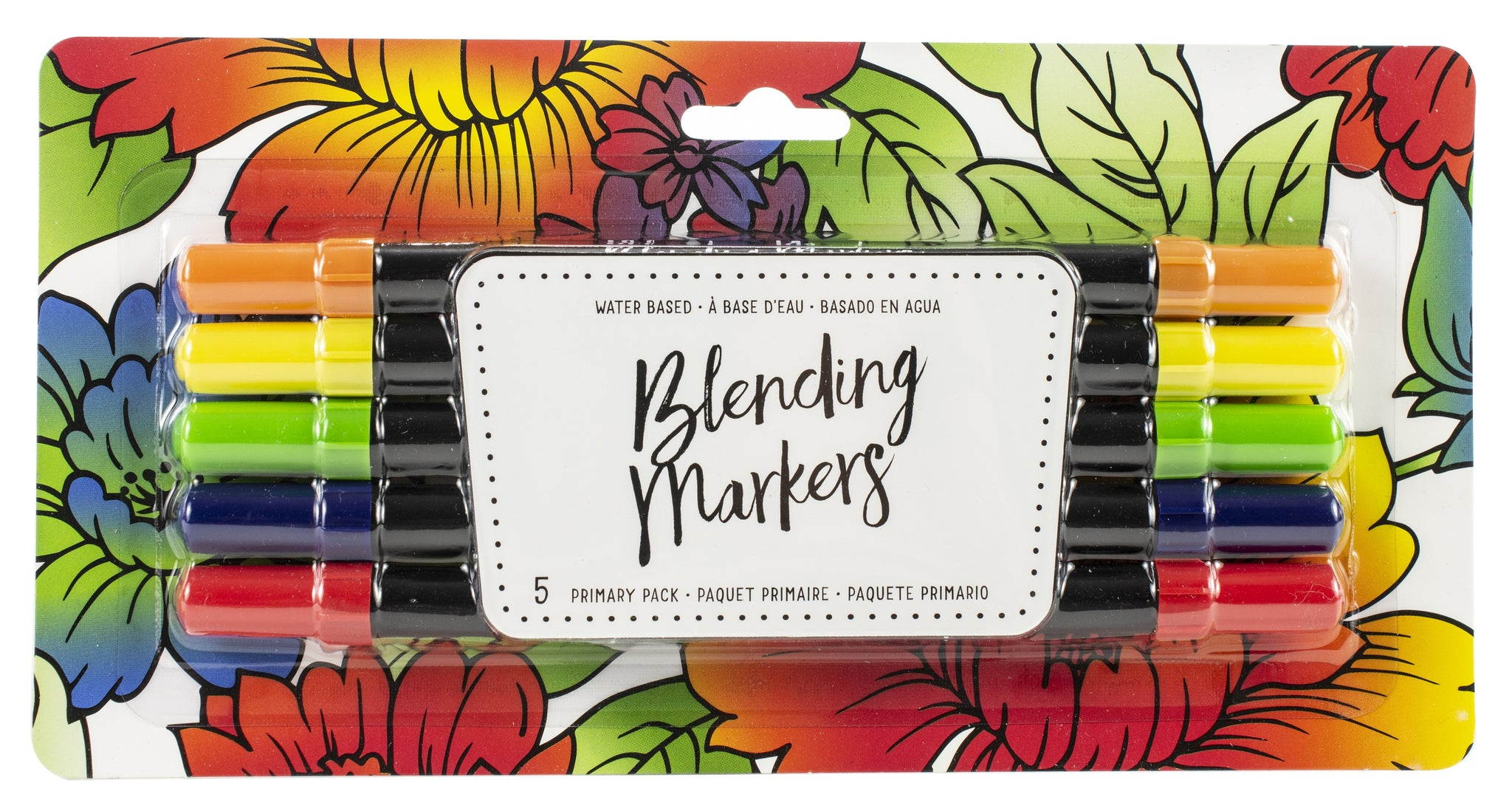 557629 American Crafts Blending Markers 5/Pkg Primary