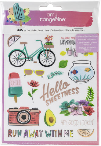 566156 Amy Tan Stay Sweet Sticker Book 445/Pkg