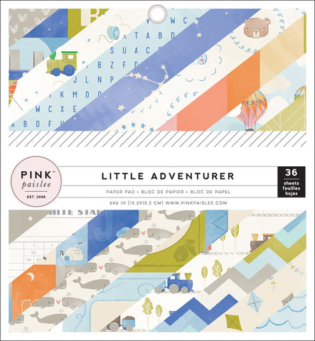 "566182 Pink Paislee Single-Sided Paper Pad 6""X6"" 36/Pkg Little Adventurer Boy"