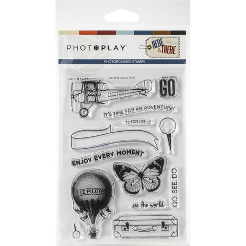 568070 PhotoPlay Photopolymer Stamp Here & There