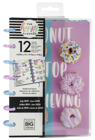 "569350 Happy Planner 12-Month Dated Mini Planner 5.125""X7.5"" Sprinkle Kindness, July 2019-June 2020"