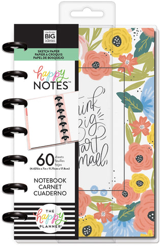 569368 Happy Planner Mini Notebook W/60 Sheets-Think Big Sketch
