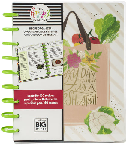 "569800 Happy Planner Undated Medium Planner 7.75""X9.75"" Recipe"