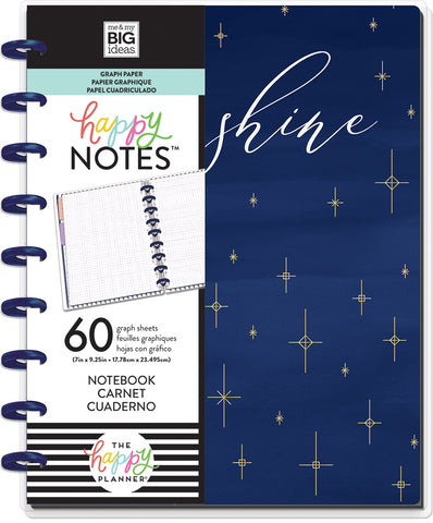 569804 Happy Planner Medium Notebook W/60 Sheets Daydreamer Educational