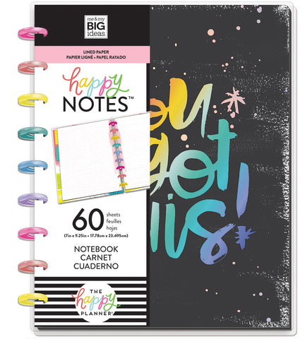 569806 Happy Planner Medium Notebook W/60 Sheets You Got This Educational